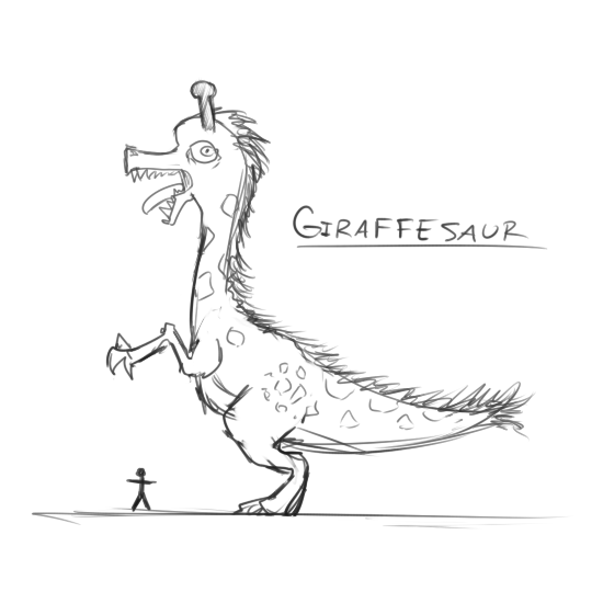 Giraffesaur by tgwonder