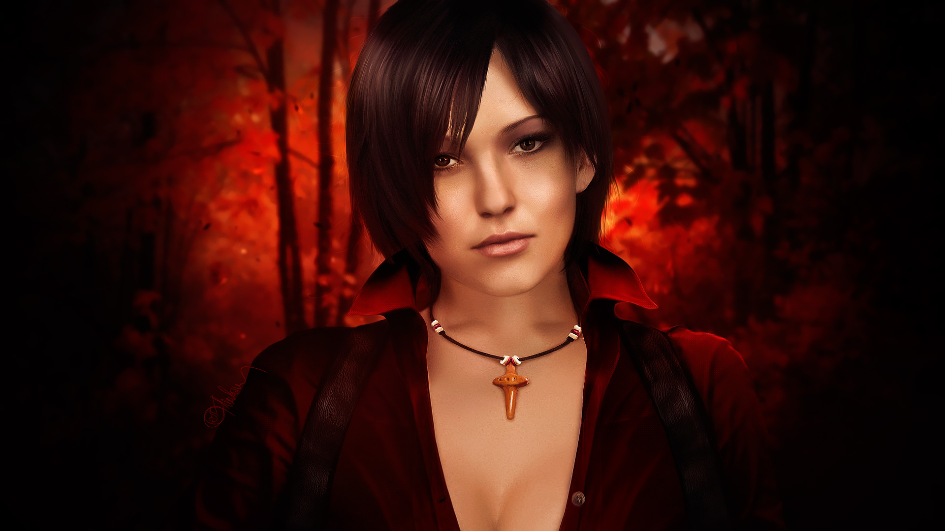 Photorealistic Ada Wong. Pearl by push-pulse