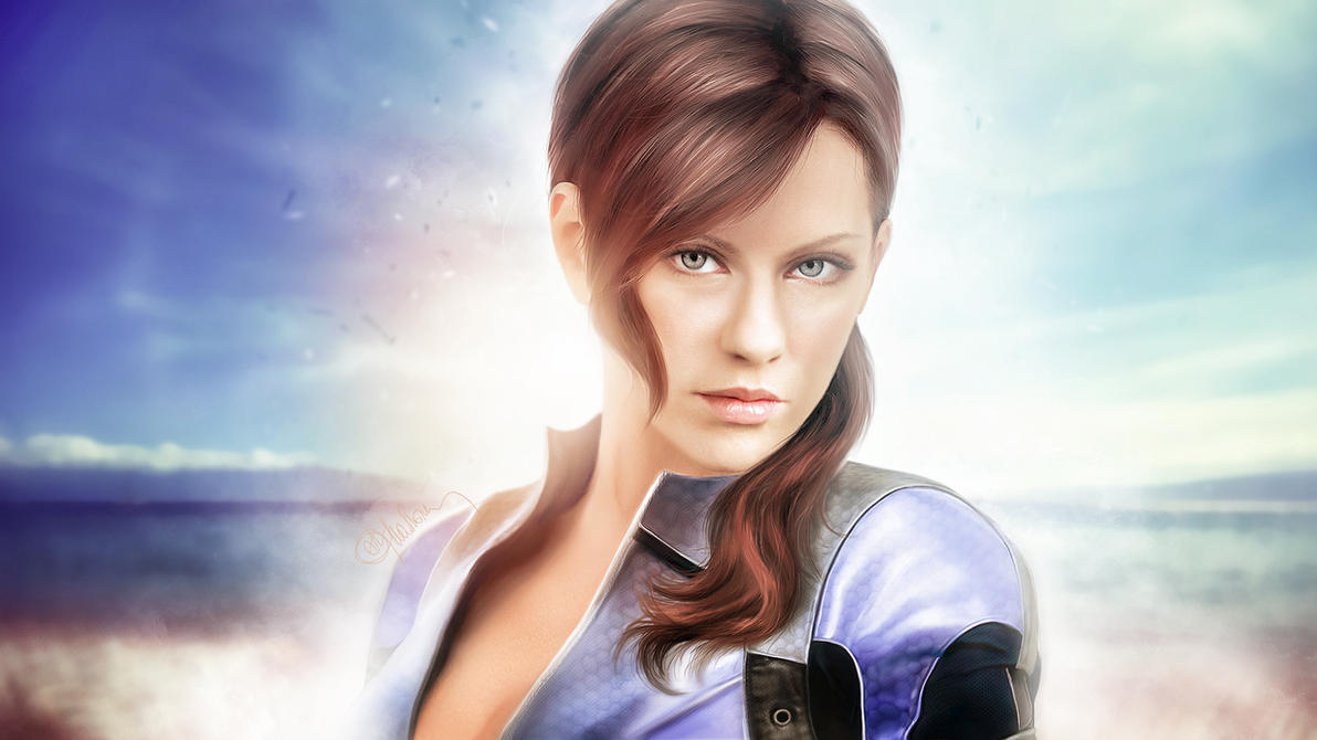 Photorealistic Jill Valentine. Serenity by push-pulse