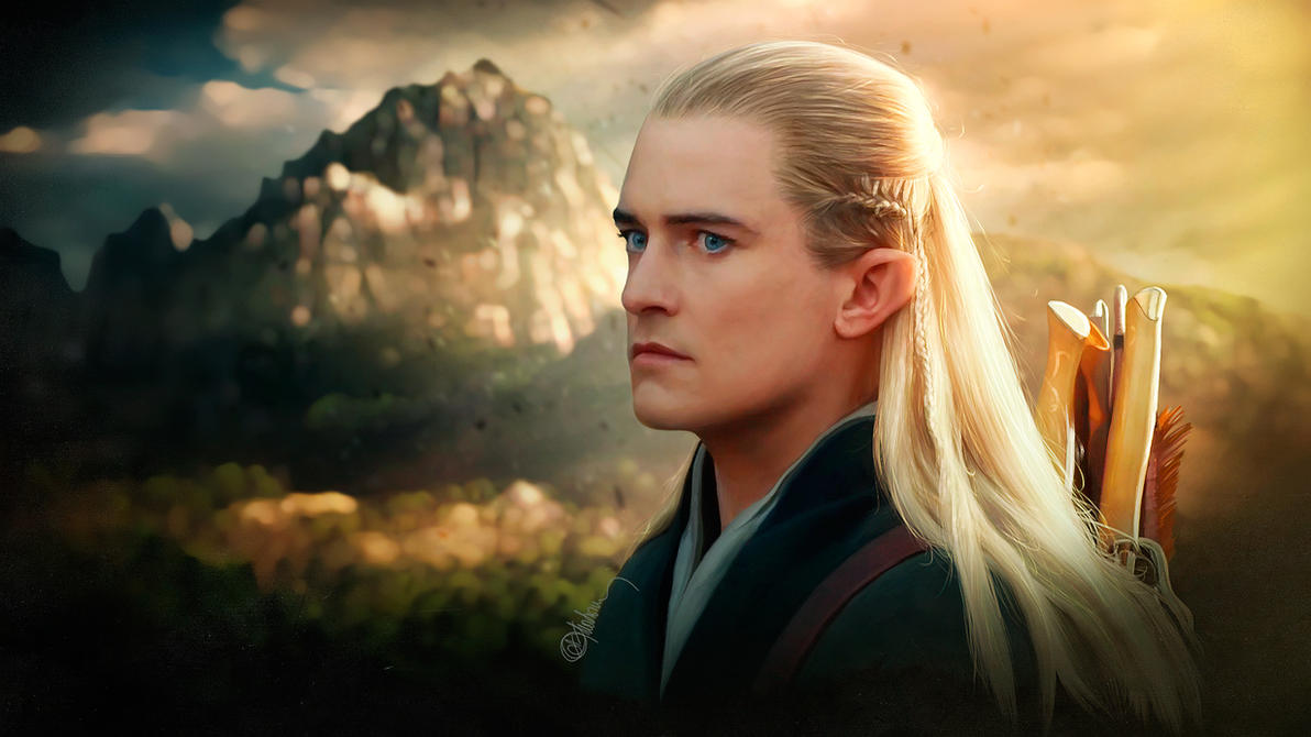 Photorealistic Legolas Orlando Bloom Hobbit By Push Pulse