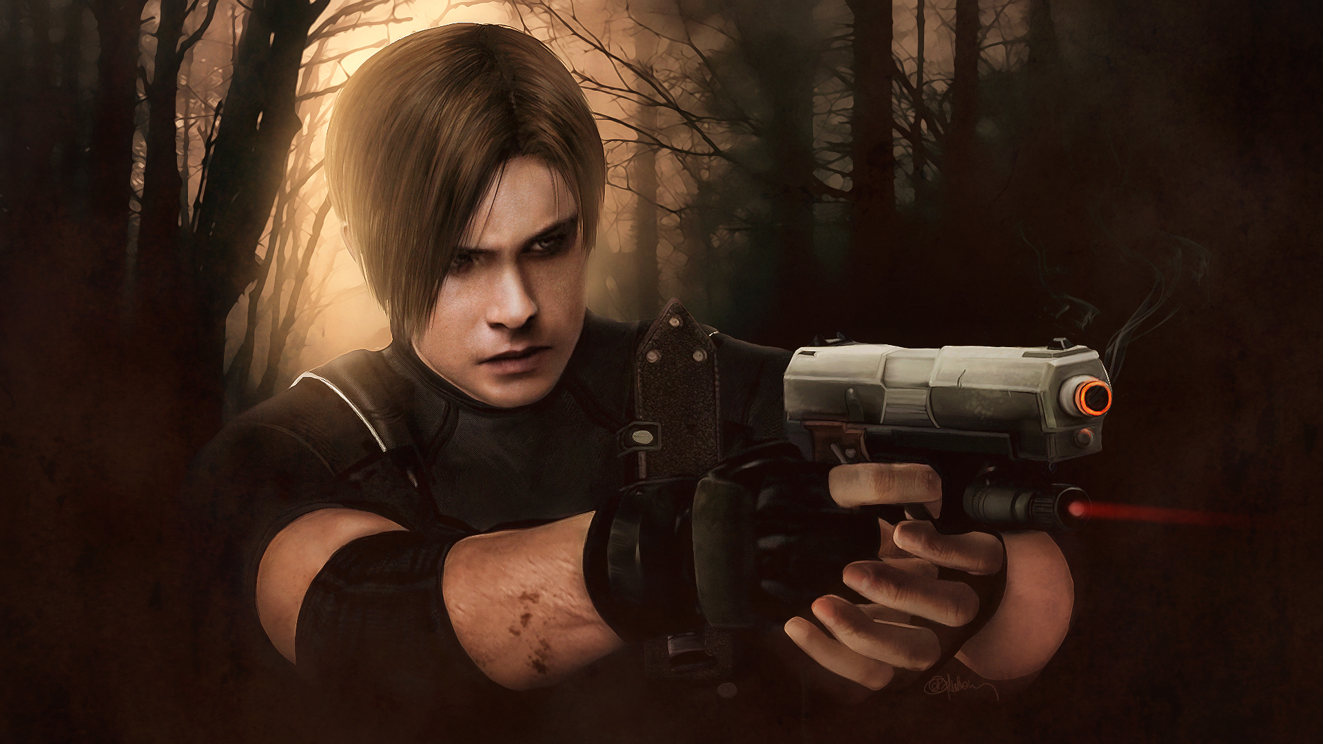 Resident Evil 4 Leon Kennedy Wallpaper By Push Pulse On Deviantart