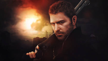Photorealistic Chris Redfield, Resident Evil 6 by push-pulse