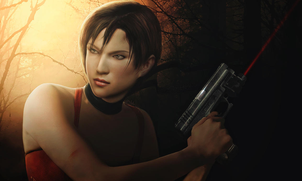 Photorealistic Ada Wong RE4 wallpaper 2500x1500 px by push-pulse