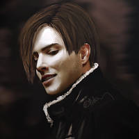 Leon. RE4. Sketch by push-pulse