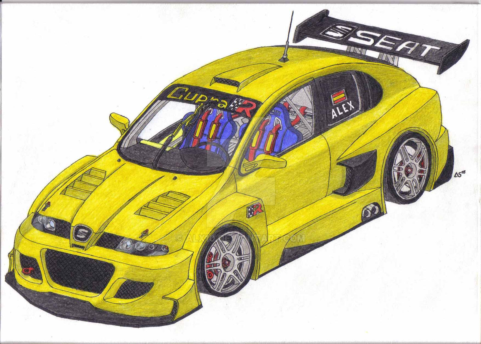 seat leon cupra r tuning by alx10 on deviantart. Black Bedroom Furniture Sets. Home Design Ideas