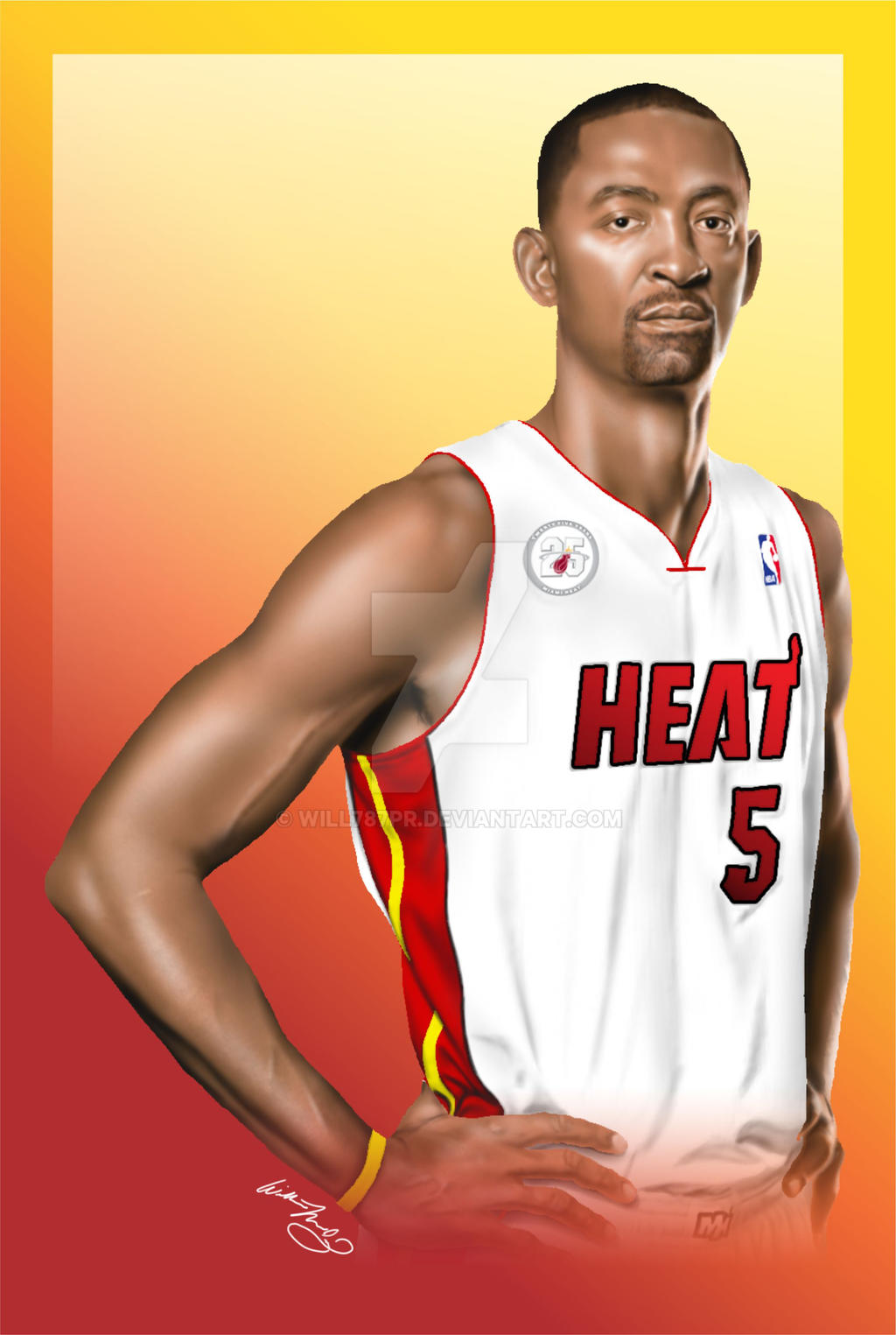 Juwan Howard MIAMI HEAT by will787pr on DeviantArt