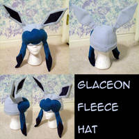 Glaceon Fleece Hat by raiinbowstars