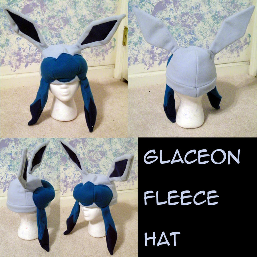 glaceon fleece hat by - photo #14