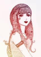 girl draw by sanderndreca