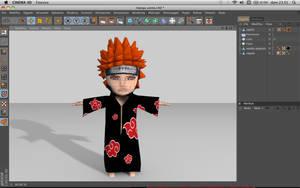 my Pain chibi 3d characters by sanderndreca