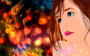 The girl with blue eyes and his dreams by sanderndreca