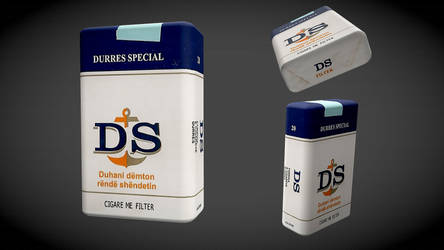 Cigare me filter DS Durres Special 3d model