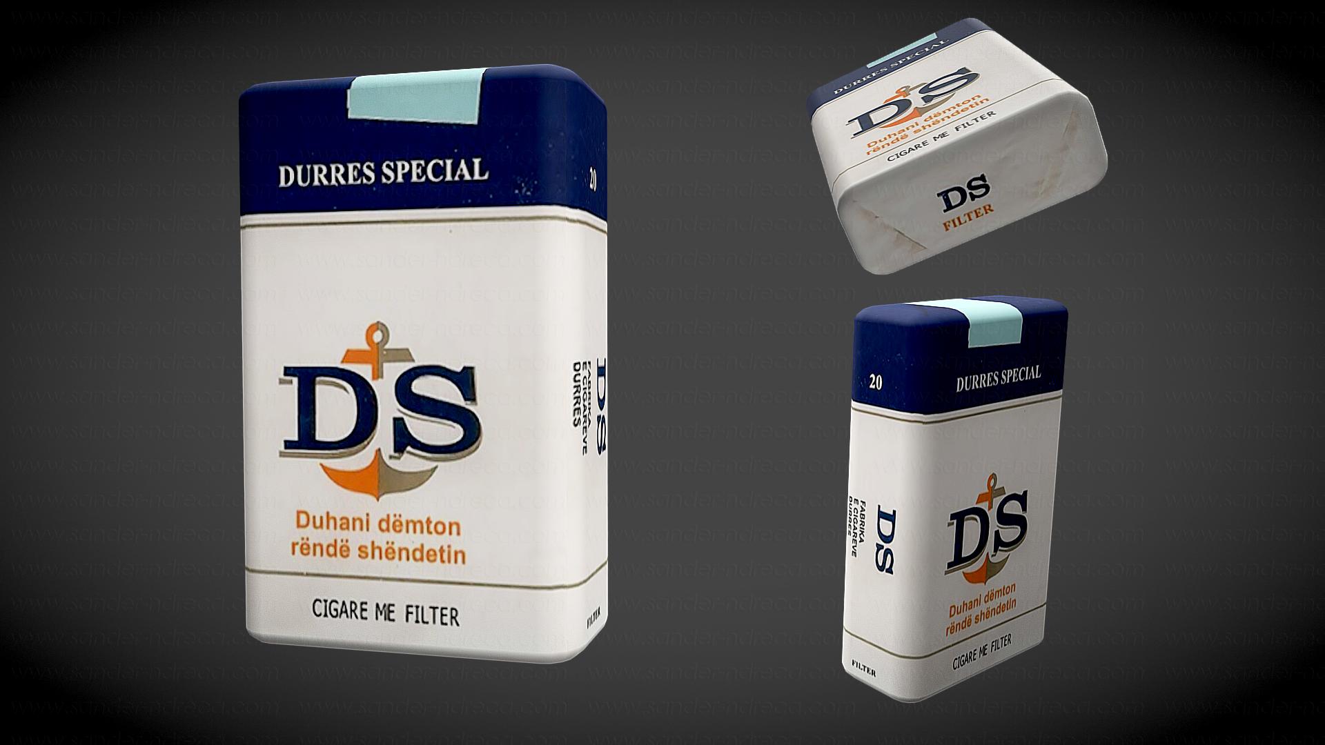 Cigare me filter DS Durres Special 3d model by sanderndreca