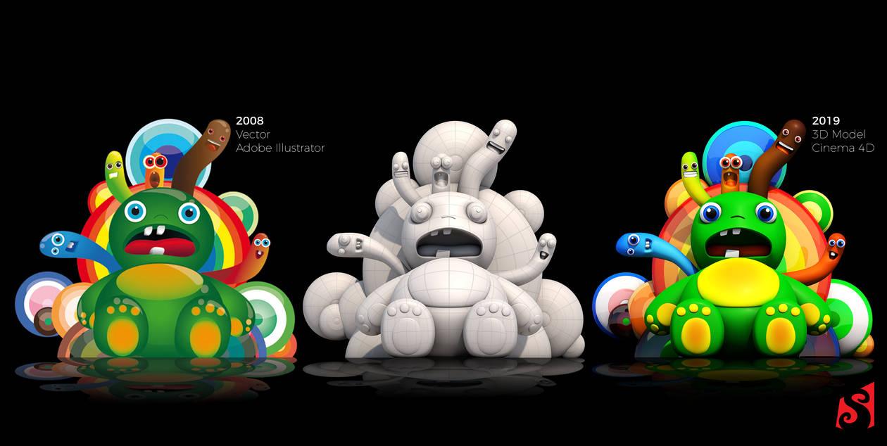Monsters 2D-3D by sanderndreca