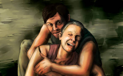 Daryl and Carol - The Walking Dead by Ogrefairy