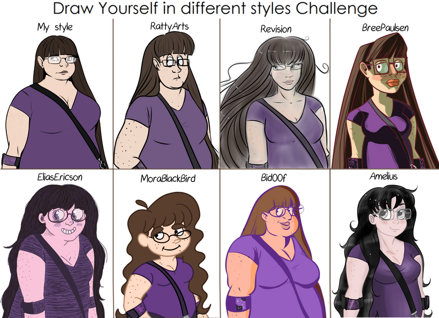 Draw yourself in different styles by ogrefairy