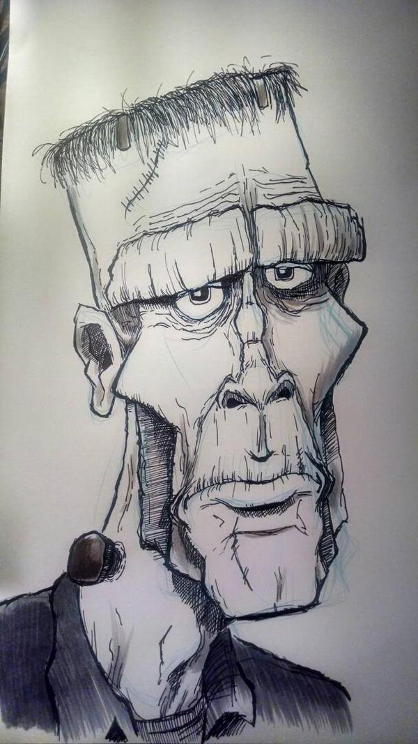 The Monster of Frankenstein by dneitzke