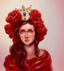 Redrose Queen by PushinkaArt