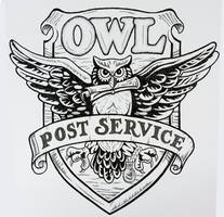 Owl Post Service - drawn only with dots!