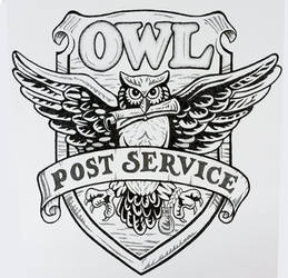 Owl Post Service - drawn only with dots! by Becky0109
