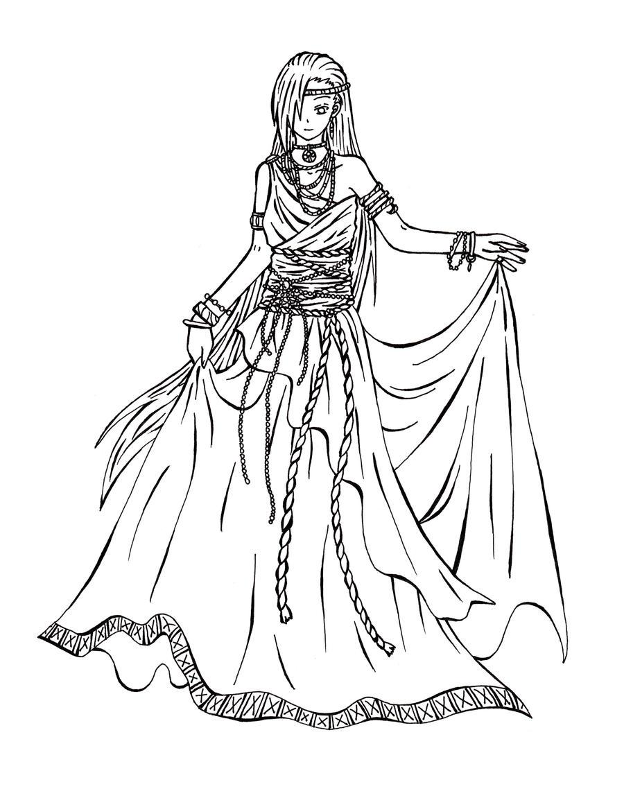 Artemis Goddess Coloring Page