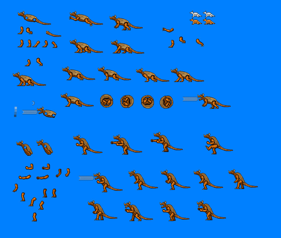 Anguirus Sprites By Cosbydaf On Deviantart