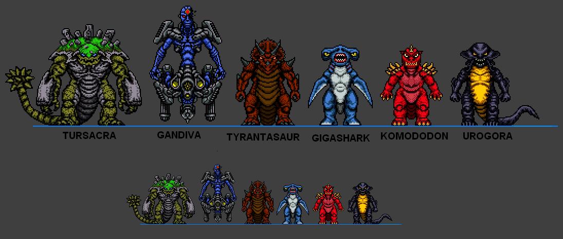 Kaiju Combat Monsters 3 by CosbyDaf