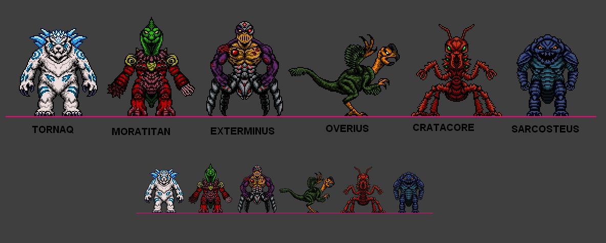 Kaiju Combat Monsters 4 by CosbyDaf