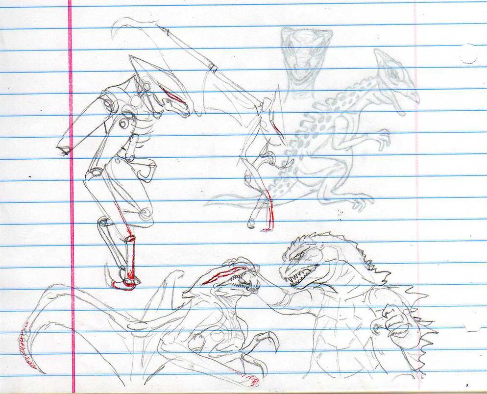 MUTO sketches by CosbyDaf