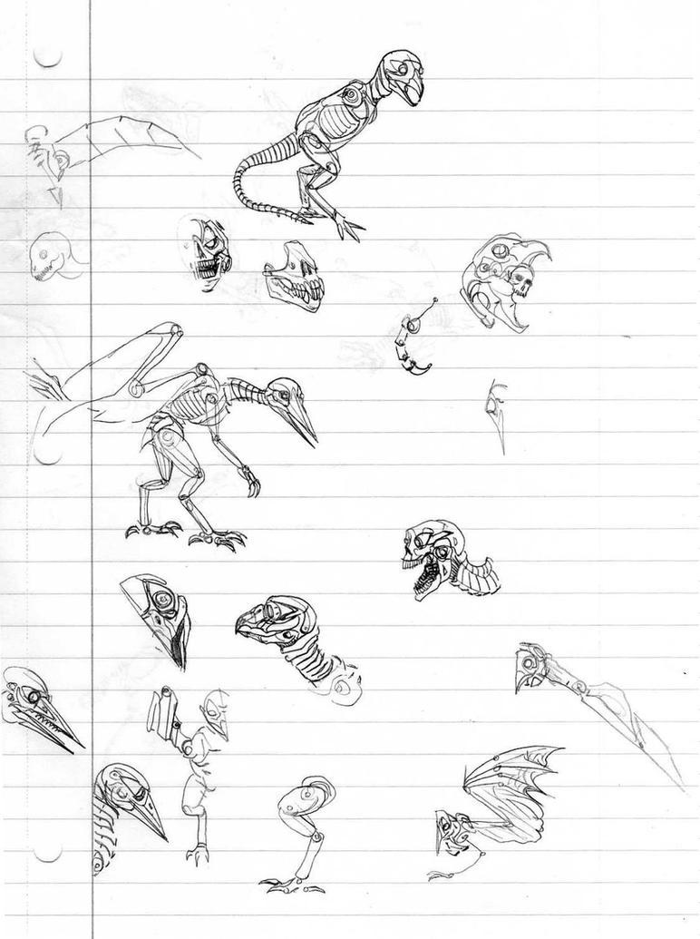 Flying Bioweapon sketches by CosbyDaf
