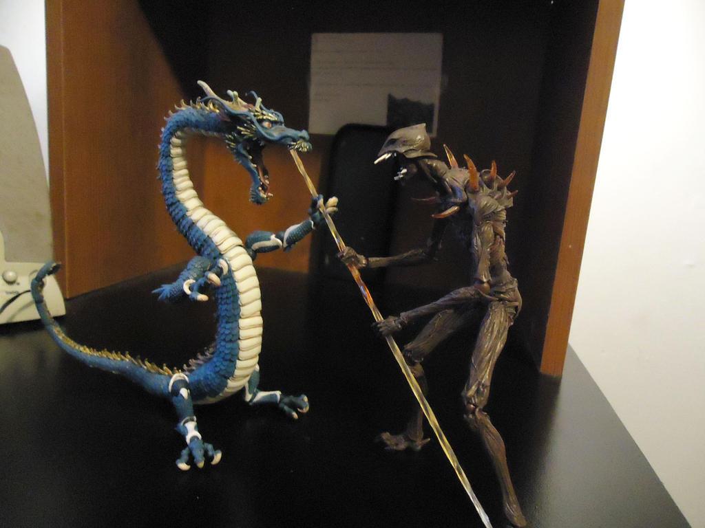 Guardian Dragon vs Invading Demon! by CosbyDaf