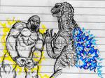 King Kong vs Godzilla sketch