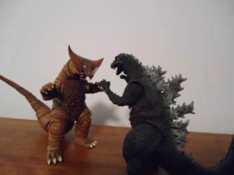 Godzilla vs Gomora by CosbyDaf