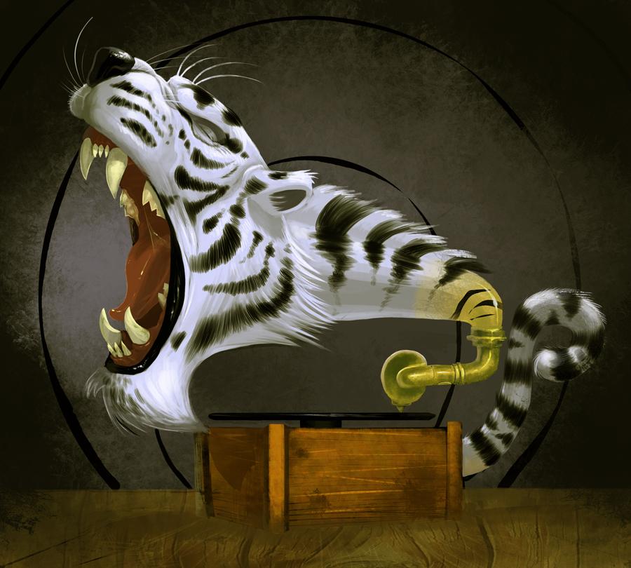Rhapsodising tiger by Nutthead