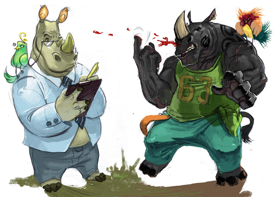 the rhinos colored by Nutthead
