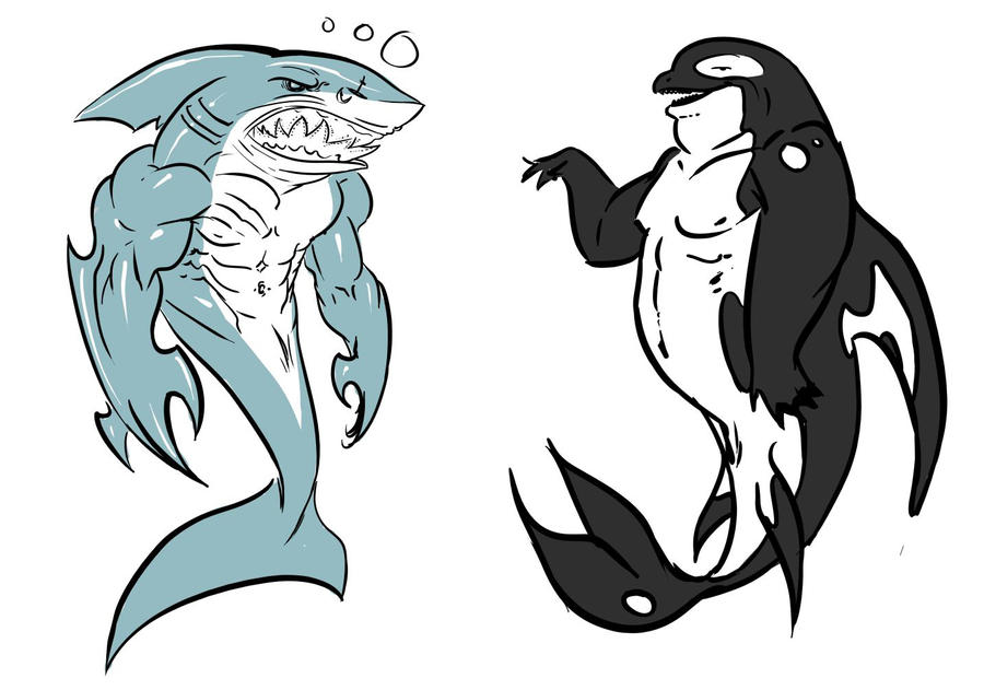 jus some aquatic anthro chars by Nutthead