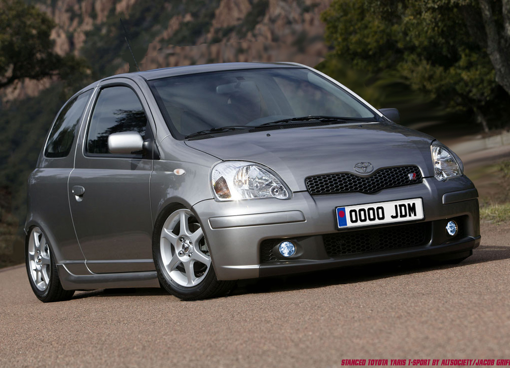 Toyota Yaris T Sport Stance Jdm Hellaflush By Jacobgriffin