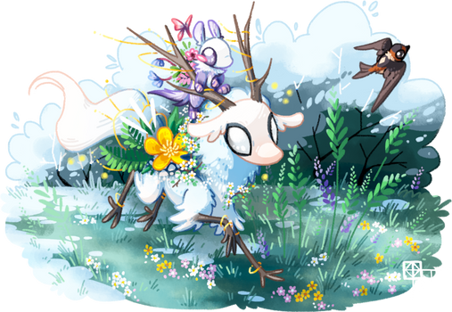Spring is here! (commission)