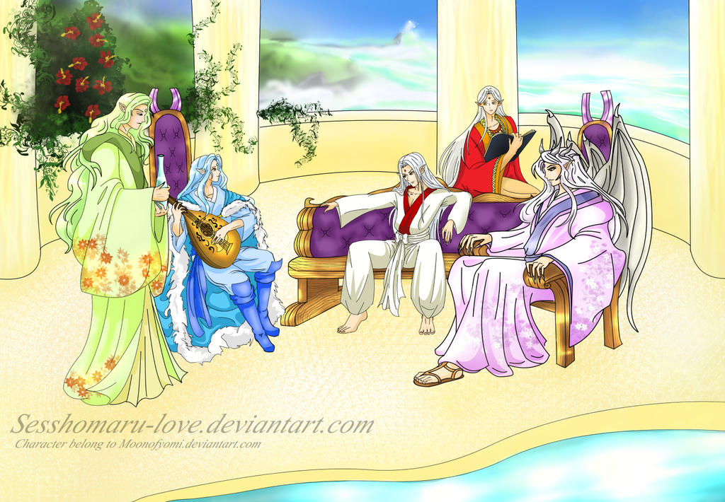 Having a nice and relax time  *Commission* by Sesshomaru-love