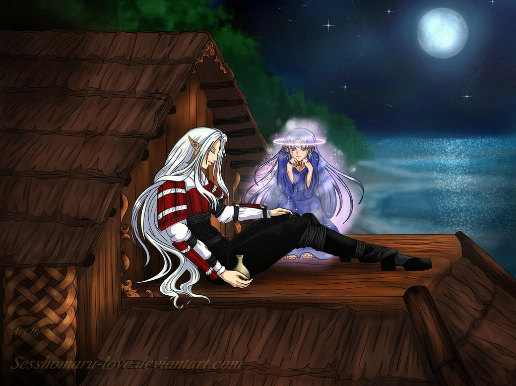 Commission: White Fang and Moonson by Sesshomaru-love