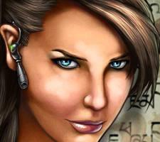 Lara Croft close up by forbesrobertson