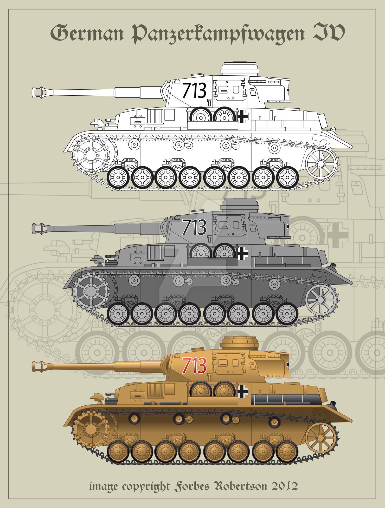 Panzerkampfwagen IV - Vector by forbesrobertson