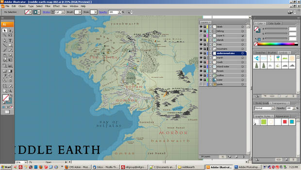 Middle Earth Map - WIP 001