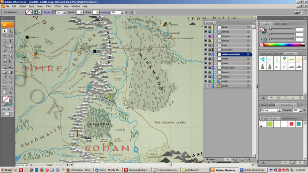 Middle Earth Map - WIP 002