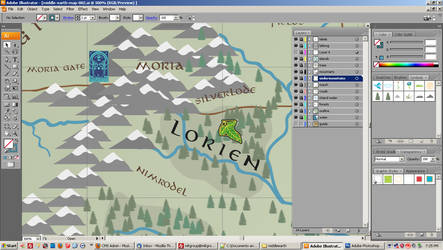 Middle Earth Map - WIP 003