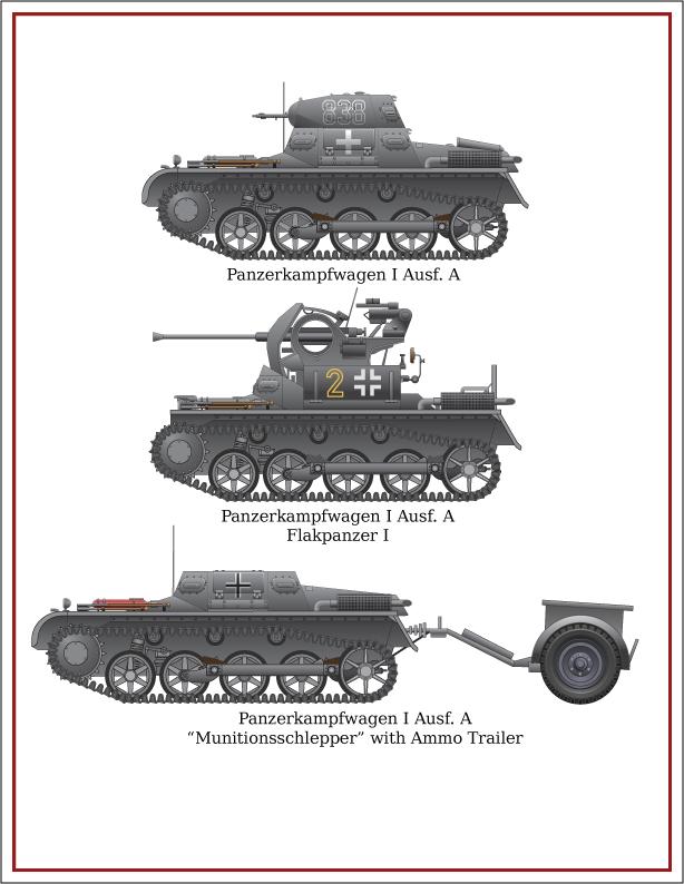 Panzerkampfwagen I Ausf. A w/variants by forbesrobertson