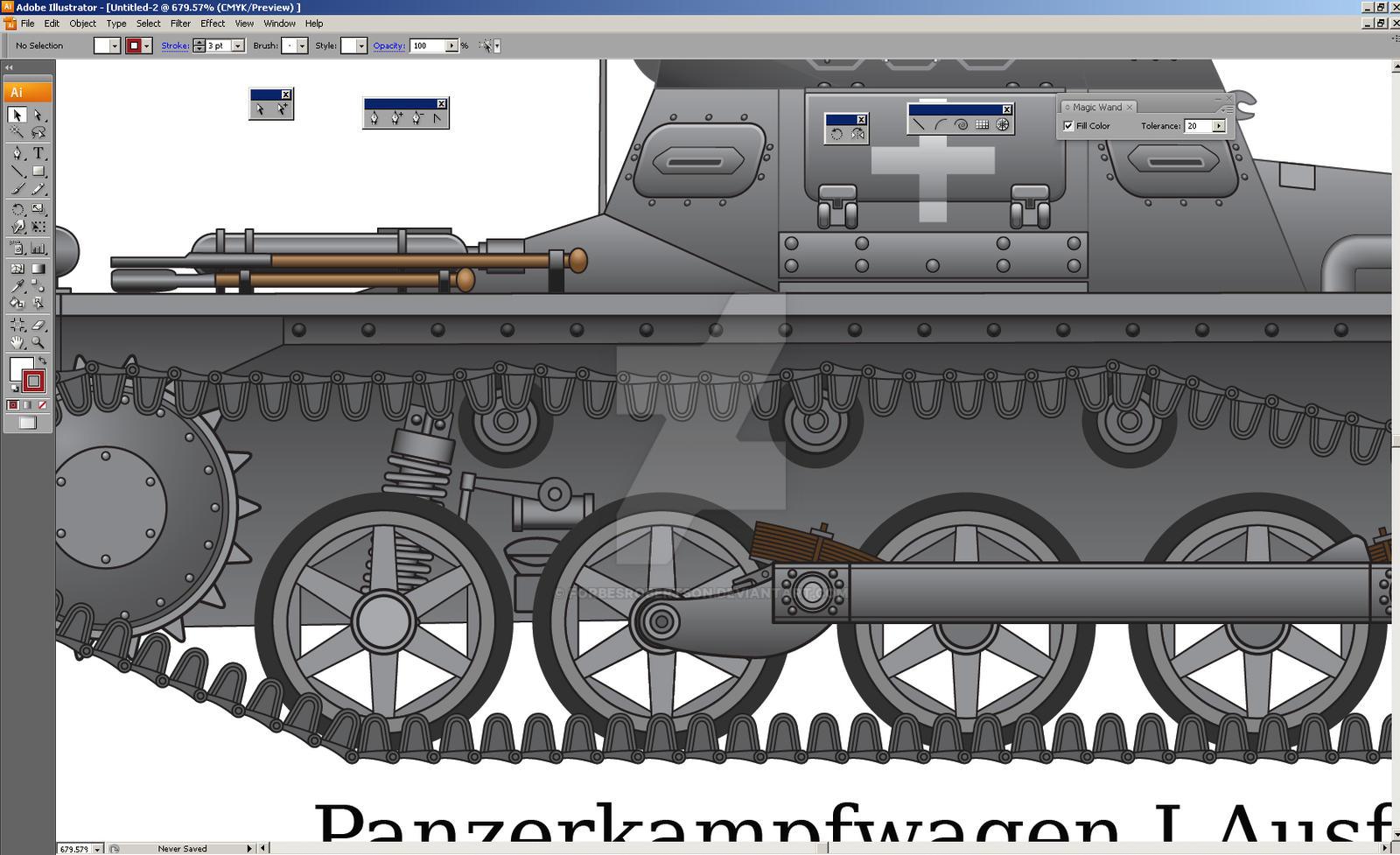 Panzerkampfwagen I Ausf. A closeup by forbesrobertson