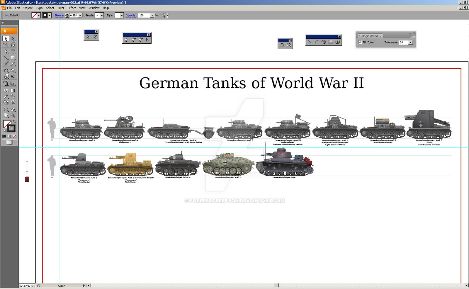 W.I.P. German Tanks of WWII Poster by forbesrobertson