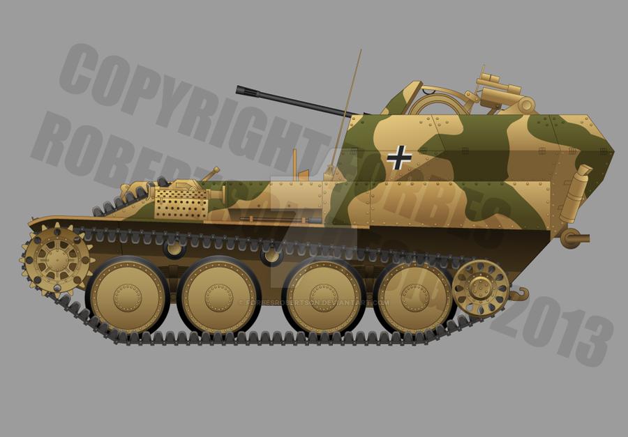 Flakpanzer 38(t) auf Selbstfahrlafette 38(t)Ausf M by forbesrobertson