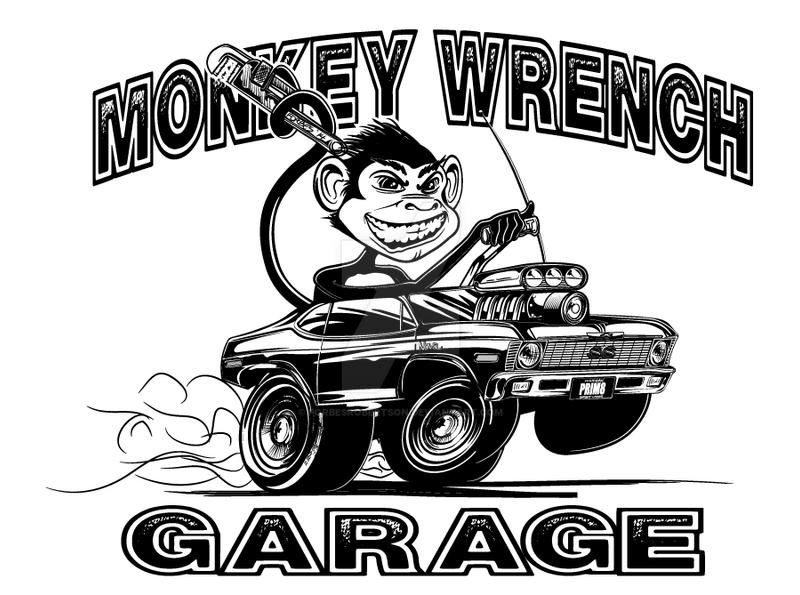 Inking - Monkey Wrench Garage